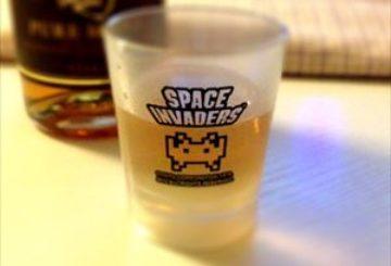 スペースインベーダーのショットグラス